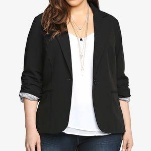 Torrid Classic Black Rouched Sleeve Blazer Size 4